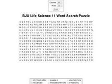 BJU Life Science 11 Worksheet