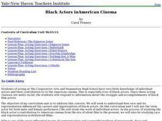 Black Actors in American Cinema Lesson Plan