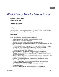 Black History Month - Past to Present Lesson Plan