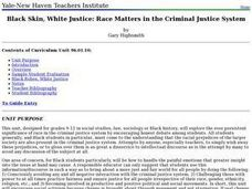 Black Skin, White Justice: Race Matters in the Criminal Justice System Lesson Plan