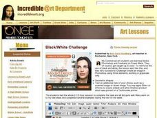 Black/White Challenge Lesson Plan