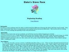 Blake's Brave Race Lesson Plan