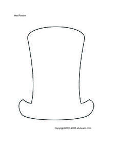 Blank Hat Pattern Worksheet