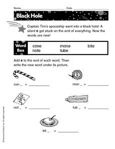 Blank Hole Worksheet