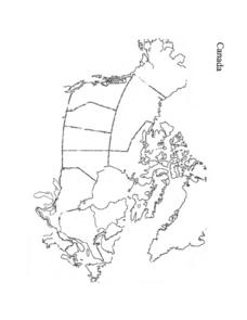 Blank Map of Canada Worksheet