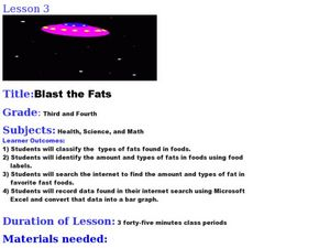 Blast the Fats Lesson Plan