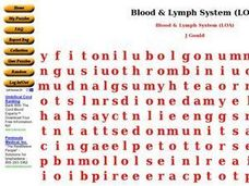 Blood and Lymph System Worksheet