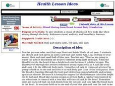 Blood Moving from Heart Around Body Simulation Lesson Plan