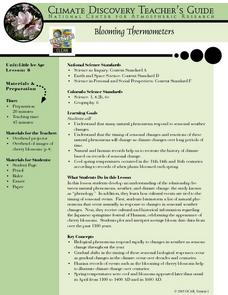 Blooming Thermometers Lesson Plan