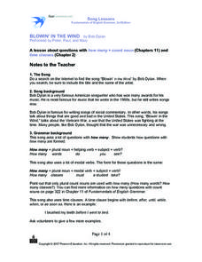 Blowin' In The Wind Worksheet