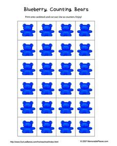 Blueberry Counting Bears Worksheet