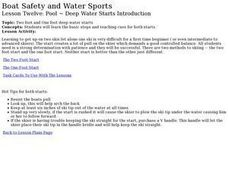 Boat Safety and Water Sports - Lesson 12 - Pool, Deep Water Starts Lesson Plan