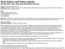 Boat Safety and Water Sports, Lesson 2: Personal Flotation Devices Lesson Plan