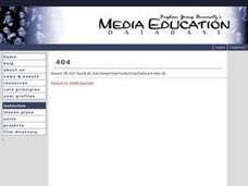 Body and Media #2 Lesson Plan