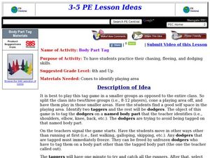 Body Part Tag Lesson Plan