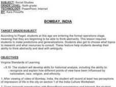 Bombay, India Lesson Plan