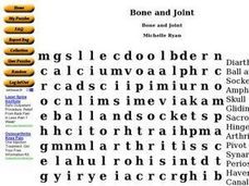 Bone and Joint Worksheet