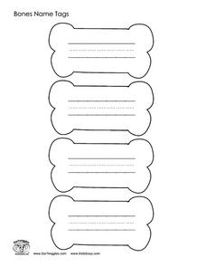 Bones Name Tags Worksheet