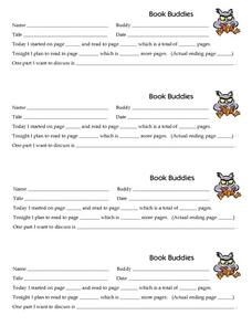 Book Buddies Worksheet