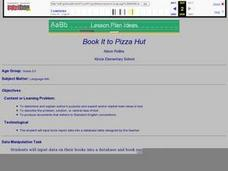 Book It to Pizza Hut Lesson Plan
