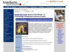 Book of the Month - A Technology-Integrated Literacy Project Activities & Project