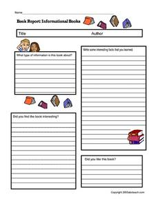 BOOK REPORT: INFORMATIONAL BOOKS Printables & Template