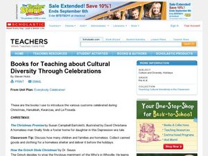 Books for Teaching about Cultural Diversity Through Celebrations Lesson Plan