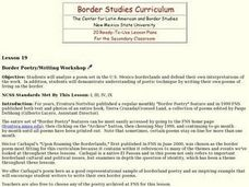 Border Poetry/Writing Workshop Lesson Plan