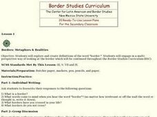Borders: Metaphors and Realities Lesson Plan