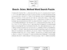 Bosch-Scien. Method Word Search Puzzle Worksheet