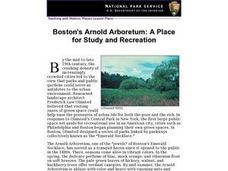 Boston's Arnold Arboretum: A Place for Study and Recreation Lesson Plan