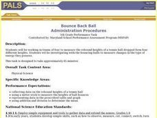 Bounce Back Ball Lesson Plan
