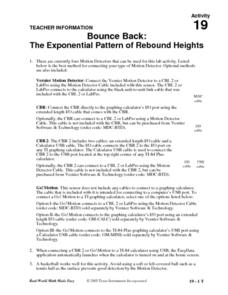 Bounce Back: The Exponential Pattern of Rebound Heights Lesson Plan