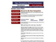 BOUND TO BE NEW HAMPSHIRE Lesson Plan