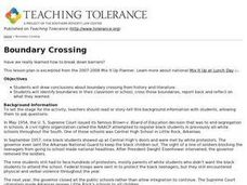 Boundary Crossing Lesson Plan