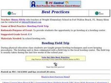 Bowling Field Trip Lesson Plan