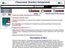 Bowling Over Fractions Lesson Plan