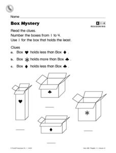 Box Mystery Worksheet