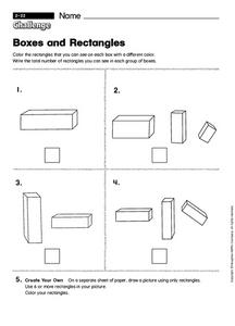 Boxes and Rectangles Worksheet