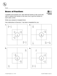 Boxes of Fractions Worksheet