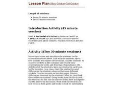 Boy Cricket Girl Cricket Lesson Plan