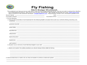 Boy Scout Merit Badge: Fly Fishing 8th Grade Worksheet  Lesson Planet