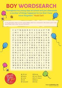 Boy Wordsearch Worksheet