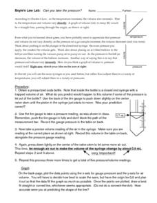 Boyle's Law Lab Worksheet