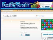 Brain Booster Lesson Plan
