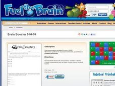 Brain Booster Worksheet