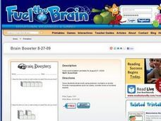 Brain Boosters: Daily Word Problem Worksheet