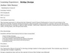 Bridge Design Lesson Plan