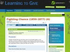 Bridges for All Lesson 1:  Fighting Chance (1850-1877) Lesson Plan