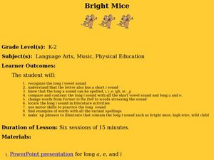 Bright Mice Lesson Plan